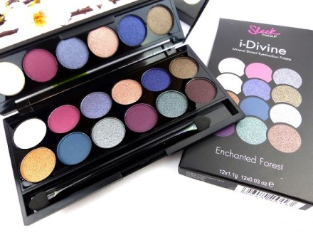 Палетка теней Sleek MakeUp Eyeshadow Palette I-Divine 12 тонов Enchanted Forest 098: фото