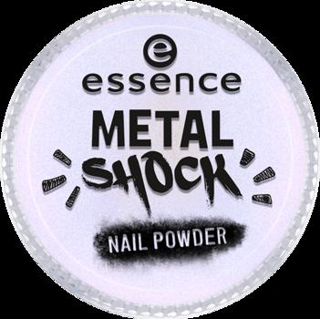 Эффектная пудра для ногтей Мetal shock nail powder Essence 05 синий перламутр: фото