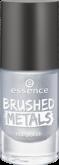 Лак для ногтей Вrushed metals nail polish Essence 01 серебряный
