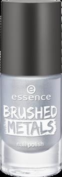 Лак для ногтей Вrushed metals nail polish Essence 01 серебряный: фото
