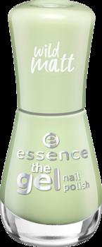 Лак для ногтей The gel Essence 104 зеленый чай с матовым эффектом: фото