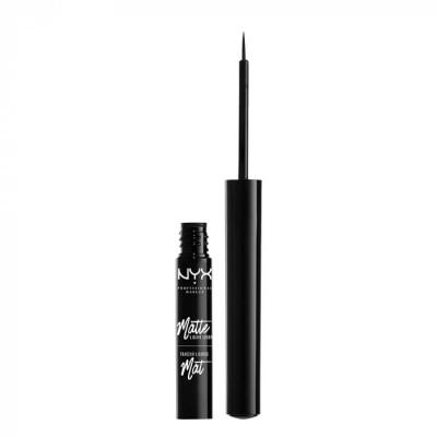 Лайнер для глаз NYX Professional Makeup Matte Liquid Liner – Black 01: фото