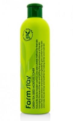 Тонер увлажняющий с семенами зеленого чая FARMSTAY Green tea seed moisture toner 300 мл: фото