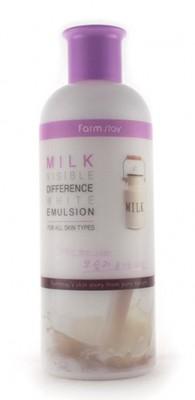 Эмульсия осветляющая с экстрактом молока FARMSTAY Visible difference white emulsion milk 350мл: фото