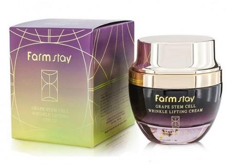 Крем-лифтинг с фито-стволовыми клетками винограда FARMSTAY Grape stem cell wrinkle lifting cream 50 мл: фото