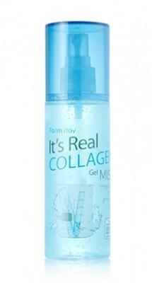 Гель-мист для лица с коллагеном FARMSTAY It's real collagen gel mist 120мл: фото