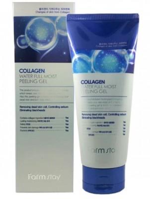 Пилинг отшелушивающий с коллагеном FARMSTAY Collagen water full moist peeling gel 180 мл: фото