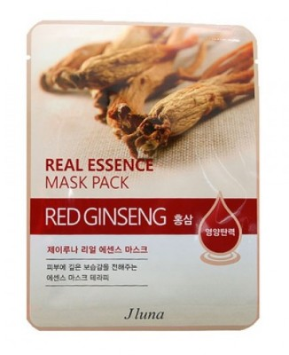 Тканевая маска с красным женьшенем JUNO Real essence mask pack red ginseng 25 мл: фото