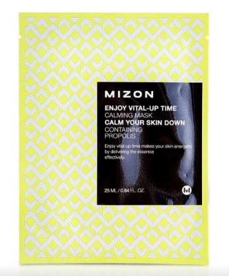 Тканевая маска успокаивающая MIZON Enjoy Vital Up Time Calming Mask: фото