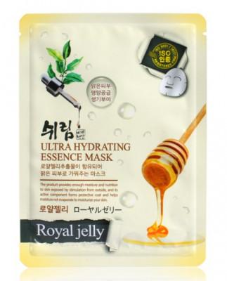 Маска тканевая с экстрактом пчелиного маточного молочка Shelim Ultra Hydrating Essence Mask Royal Jelly 25мл: фото