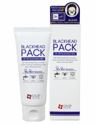 Маска-пилинг для лица SNP On-off blackhead pack wash-off type 80г: фото