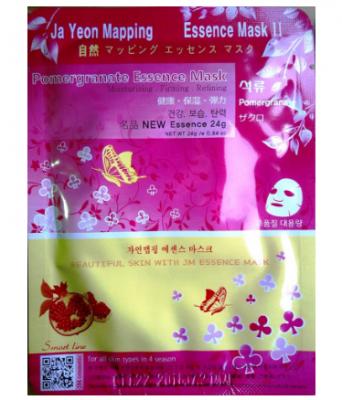 Маска для лица с экстрактом граната JAYEONMAPPING Pomegranate essence mask 24 г.: фото