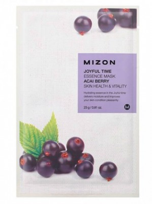 Тканевая маска с ягодами ассаи MIZON Joyful time essence mask acai berry 23г: фото