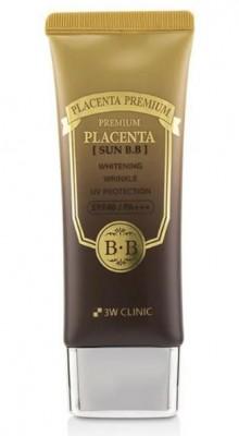 ВВ-крем с плацентой 3W CLINIC Premium Placenta Sun BB Cream SPF40 50мл: фото