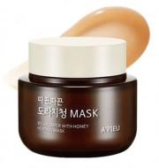 Маска для лица с медом согревающая A'PIEU Bellflower with honey Heating Mask 110мл: фото