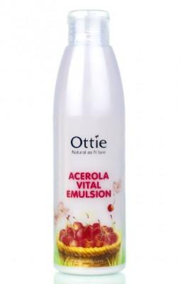 Эмульсия с вишней для сухой и увядающий кожи OTTIE Acerola Vital Emulsion 200мл: фото