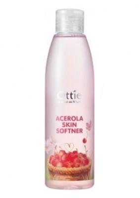 Тонер с вишней для сухой и увядающий кожи OTTIE Acerola Skin Softner 200мл: фото