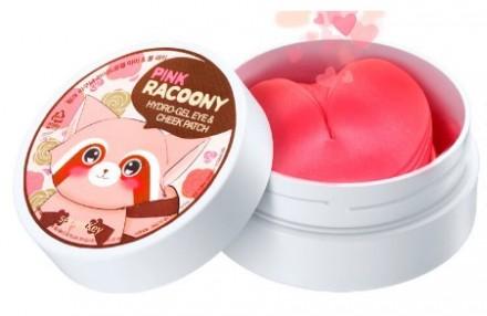 Патчи для глаз и скул гидрогелевые SECRET KEY Pink Racoony Hydro-Gel Eye & Cheek Patch: фото