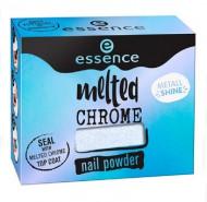 Эффектная пудра для ногтей ЕSSENCE Melted Chrome 05 белый хамелеон: фото