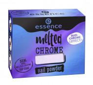 Эффектная пудра для ногтей ЕSSENCE Melted Chrome 01 синий: фото