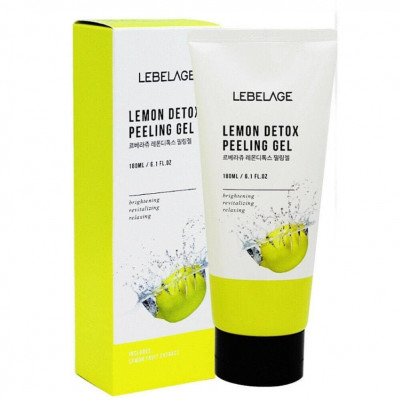 Гель отшелушивающий с экстрактом лимона LEBELAGE Lemon Detox Peeling Gel 180мл: фото