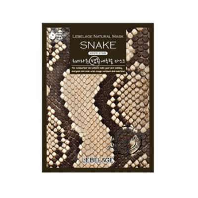 Тканевая маска со змеиным пептидом Lebelage SYN-AKE Natural Mask 23г: фото