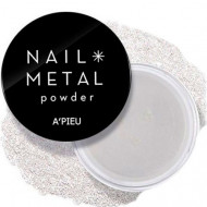 Пудра для ногтей A'PIEU Nail Metal Powder Silver: фото