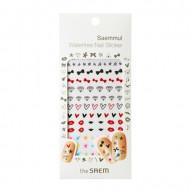 Наклейки для ногтей водостойкие THE SAEM Saemmul Waterfree Nail Sticker 01.Lovely Ribbon: фото