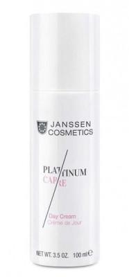 Дневной крем реструктурирующий с пептидами и коллоидной платиной Janssen Cosmetics Platinum Care 100мл: фото