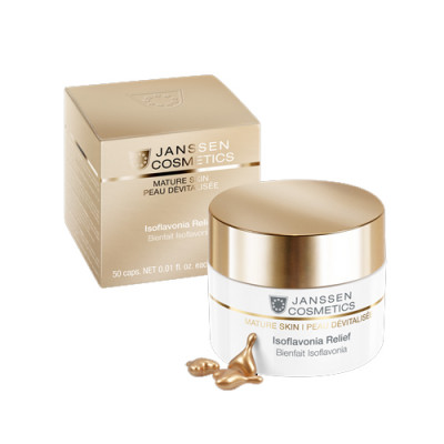 Капсулы с фитоэстрогенами и гиалуроновой кислотой Janssen Cosmetics Isoflavonia Relief 50шт: фото