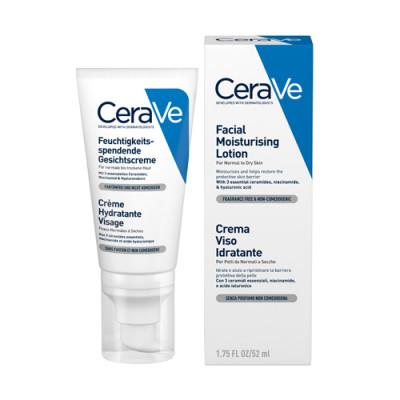 Лосьон увлажняющий для нормальной и сухой кожи лица CeraVe 52мл: фото