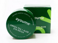Патчи для глаз от отечности с экстрактом зеленого чая и алоэ AYOUME GREEN TEA+ALOE EYE PATCH 1,4г*60: фото