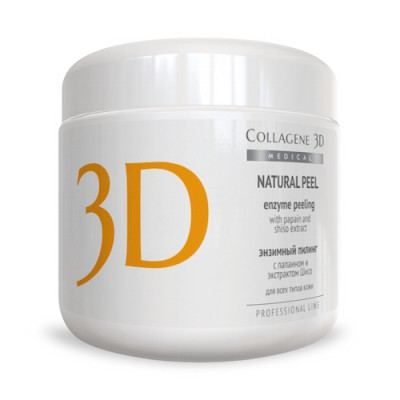 Пилинг с папаином и экстрактом шисо Collagene 3D NATURAL PEEL 150 г: фото