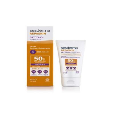 Солнцезащитное средство с матовым эффектом для лица Sesderma REPASKIN DRY TOUCH Facial sunscreen SPF50 50мл: фото