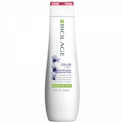 Шампунь фиолетовый для нейтрализации желтизны Matrix Biolage Color last Purple Shampoo 250мл: фото