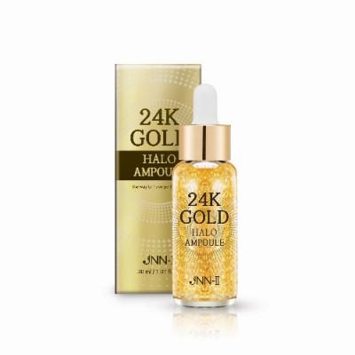 Сыворотка для лица с 24К золотом JUNGNANI JNN-II 24K GOLD HALO AMPOULE 30мл: фото