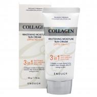 Солнцезащитный крем для лица с морским коллагеном ENOUGH Collagen 3in1 Whitening Moisture Sun Сream SPF50 PA+++: фото