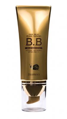 BB-Крем сияющий с муцином улитки DEOPROCE SNAIL GALAC PEARL SHINING BB №21 40г: фото