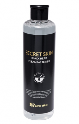 Тонер для лица с древесным углем SECRET SKIN BLACK HEAD CLEANSING TONER 250мл: фото
