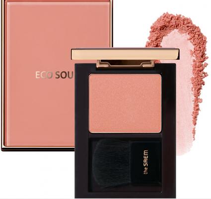 Румяна THE SAEM Eco Soul Luxe Blusher PK01 Rose Signature: фото