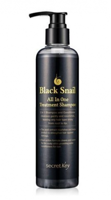 Шампунь улиточный SECRET KEY Black Snail All in One Treatment Shampoo 250мл: фото