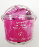 Маска для лица с каламиновой пудрой AYOUME ENJOY MINI WASH-OFF PACK 3г*30шт: фото