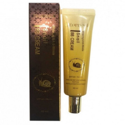 BB-крем с экстрактом улитки DEOPROCE WHITENING AND ANTI-WRINKLE SNAIL BB CREAM SPF50+PA+++ 40мл: фото