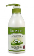 Лосьон для тела с алоэ DEOPROCE FRESH MOISTURIZING ALOE BODY LOTION 500мл: фото