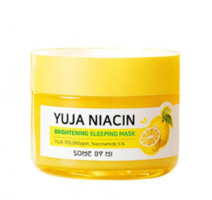 Маска ночная для сияния кожи SOME BY MI Yuja Niacin 30 Days Miracle Brightening Sleeping Mask 60г: фото
