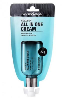 Крем Все-в-Одном с гиалуроновой кислотой Veraclara Hyaluron All In One Cream 27 г: фото