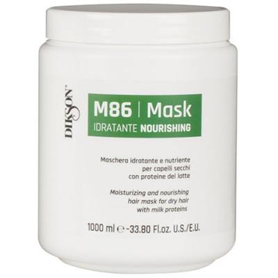 Маска увлажняющая и питательная маска для сухих волос Dikson MASK NOURISHING M86 1000 мл: фото