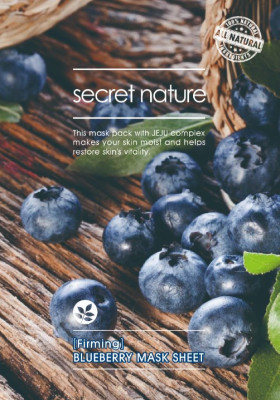 Тканевая маска для лица с черникой Secret Nature Firming Blueberry Mask Sheet 25 мл: фото