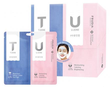 Маска с розовой и черной глиной для комбинированной кожи My Orchard TU Drawing Mask 7г+7г: фото