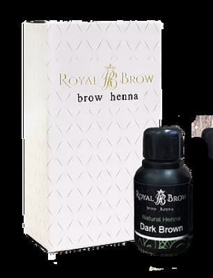 Хна для бровей Royal Brow Dark Brown, Темно-коричневый 15мл: фото
